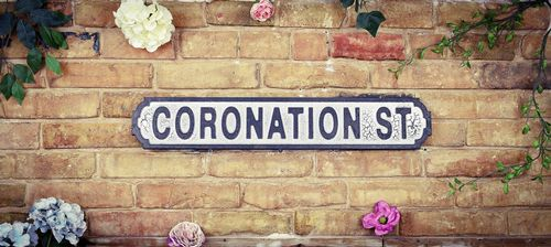 Coronation St Vintage Road Sign / Street Sign